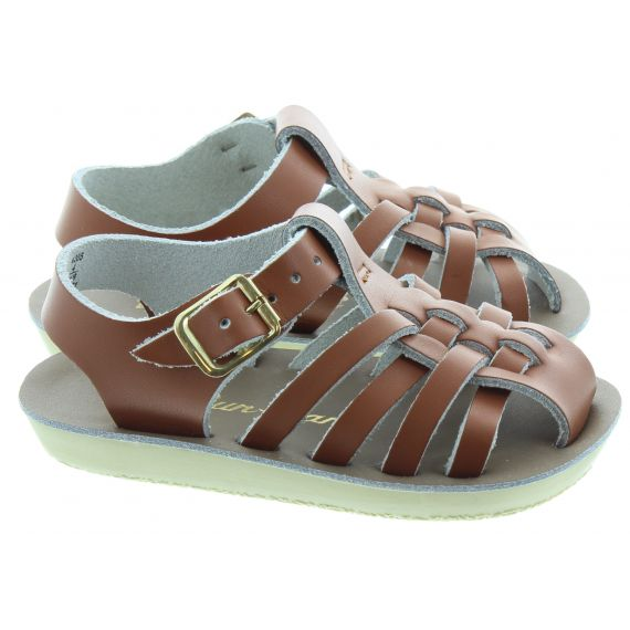 SALT WATER Sailor Baby Sandals In Tan