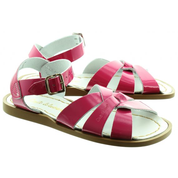 SALT WATER Kids Salt Water Sandals in Pink Patent
