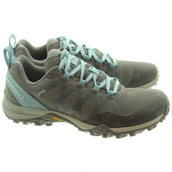 MERRELL Ladies Siren 3 Gore -Tex® Lace Shoes In Blue Smoke