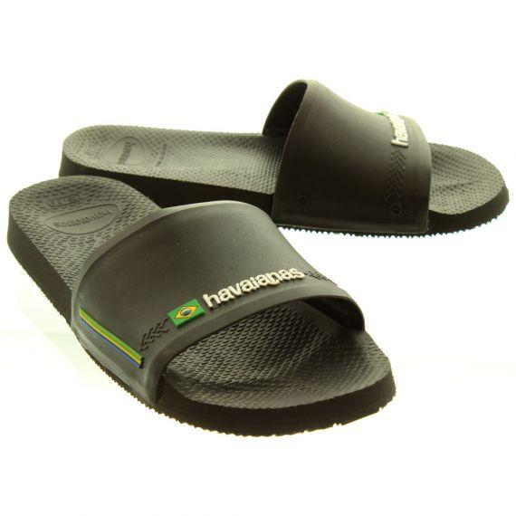 HAVAIANAS Slide Brasil Mules In Black