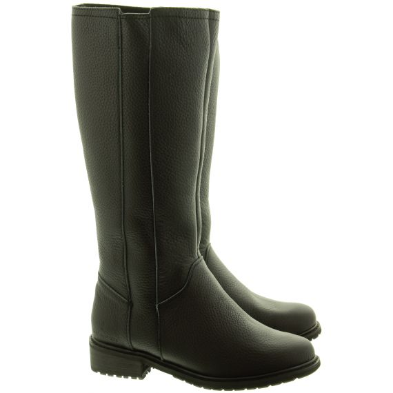 EMU Ladies Spence Flat Knee Boots In Black