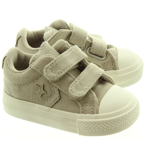 CONVERSE Star Player 2 Velcro Shoes In Beige