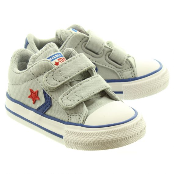 CONVERSE Starplayer 2 Velcro Shoes In Light Grey
