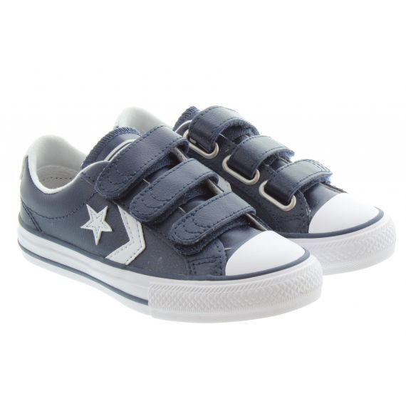 CONVERSE Kids Star Player 3V Shoes In Navy White