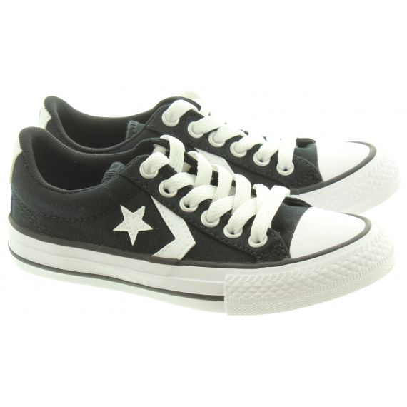 CONVERSE Star Player Kids Shoes In Black