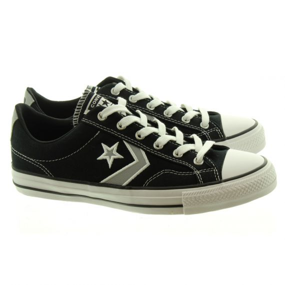 CONVERSE Star Player Ox Lace Shoes In Black Grey
