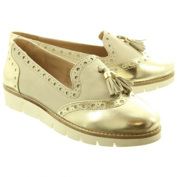 LUNAR Ladies Tallis Flat Shoes In Beige