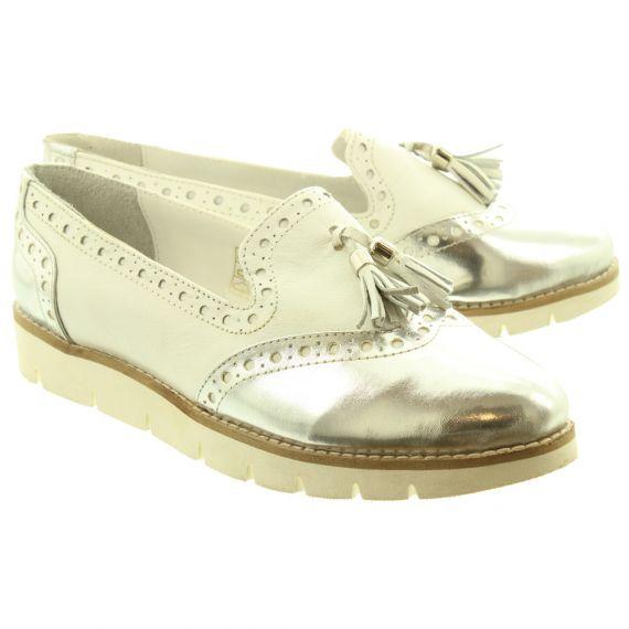 LUNAR Ladies Tallis Flat Shoes In White