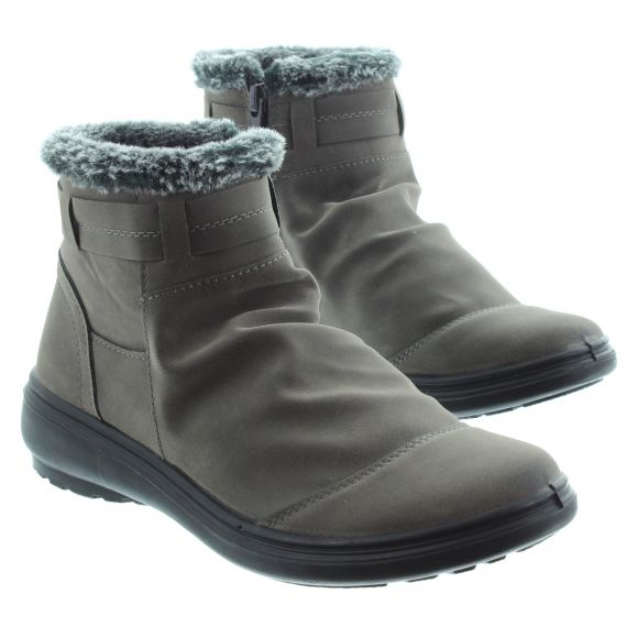 LUNAR Tammy Flat Ankle Boot in Grey