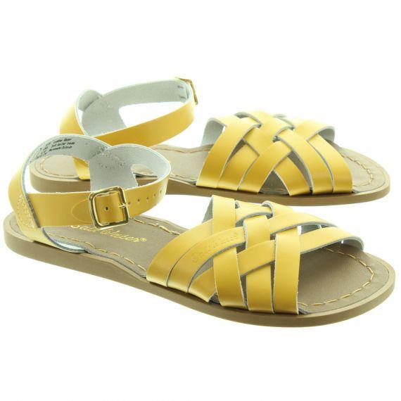 SALT WATER Ladies The Retro Sandals In Mustard