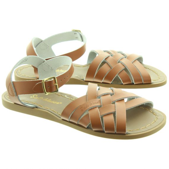 SALT WATER Ladies The Retro Sandals In Tan