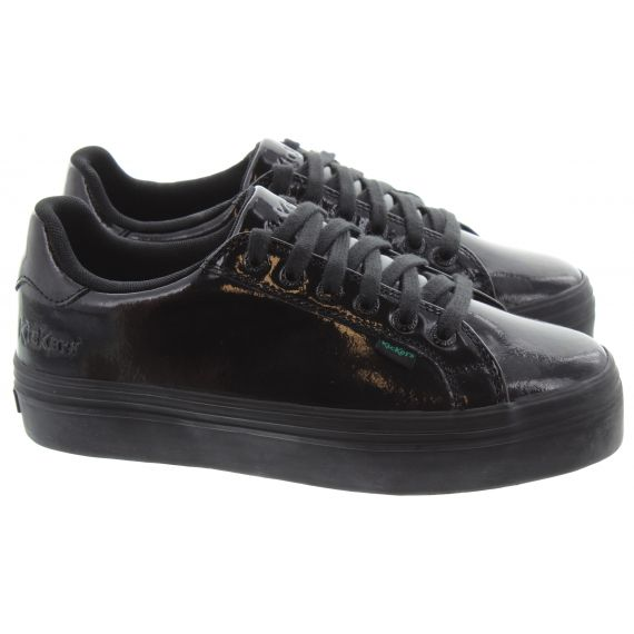 KICKERS Ladies Tovni Stack Shoes In Black Patent