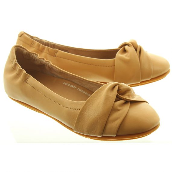 FITFLOP Ladies Twiss Ballerina Shoes In Blush