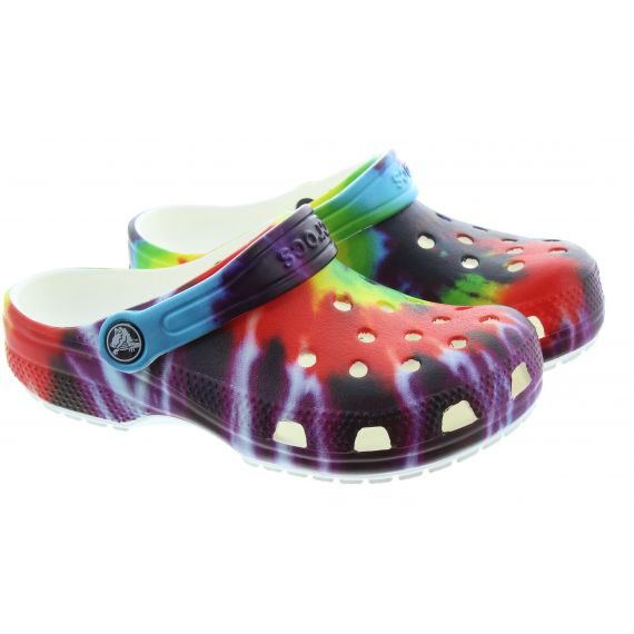 CROCS Kids Tie Dye Crocs In Multi