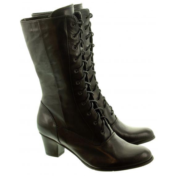 REGARDE LE CIEL Ladies Valery 82 Lace Calf Boots In Black