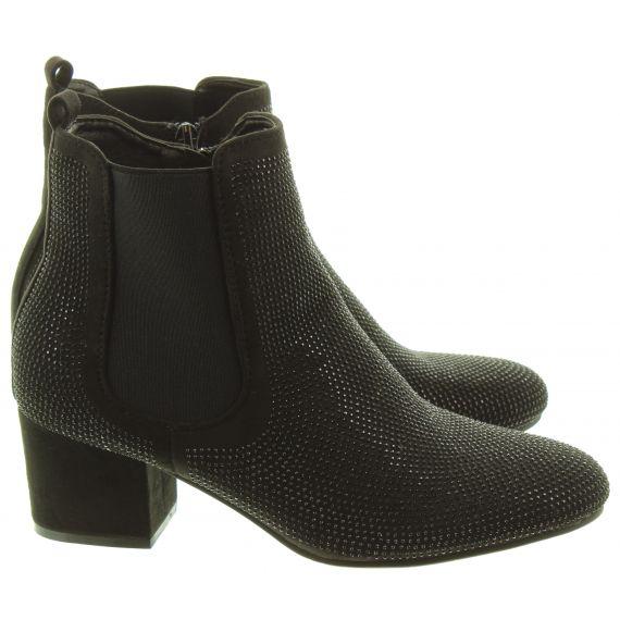 HEAVENLY FEET Ladies Wave 2 Diamante Boots In Black
