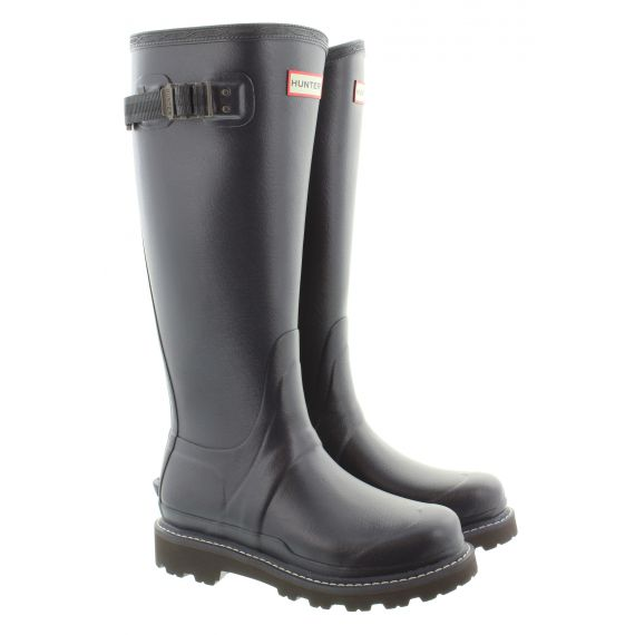 HUNTER Womens Balmoral Tall Wellies In Navy