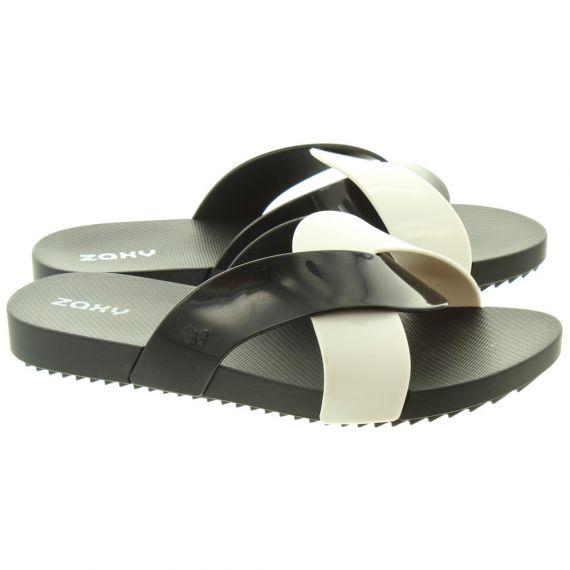 IPANEMA Womens Check Slide Sandals In Black