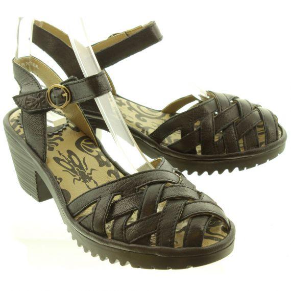 FLY Ladies Wuzy Weave Sandal In Black