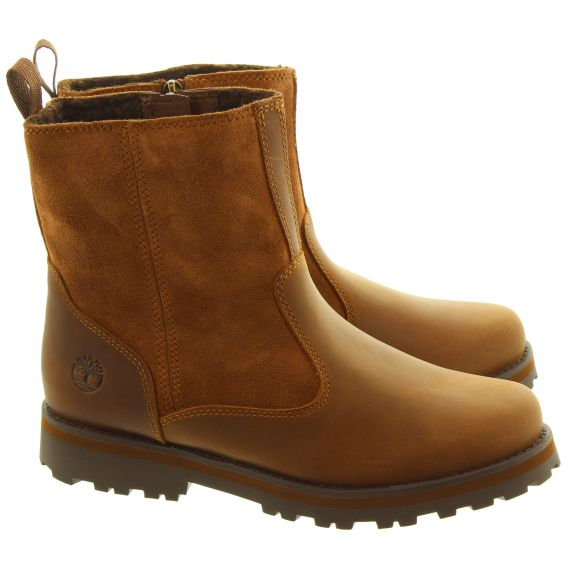 TIMBERLAND Youths Courma Warm Boots In Tan