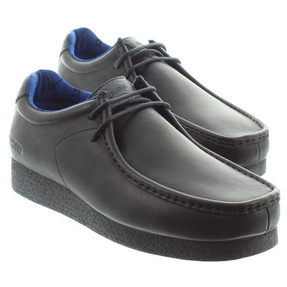 DEAKINS Youths Hackney Junior Lace Shoes In Black