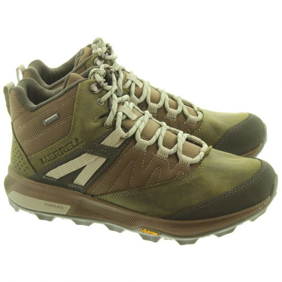 MERRELL Mens Zion Mid Gore -Tex® Boots In Olive