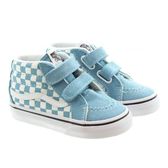 VANS Kids Sk8 Mid Boots In Blue